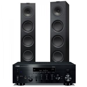 Yamaha R-N803D Amplifier with KEF Q750 Speakers