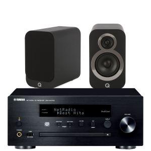 Yamaha CRX-N470D with Q Acoustics Q3010i Bookshelf Speakers