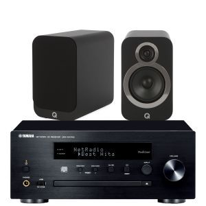 Yamaha CRX-N470D with Q Acoustics 3020i Bookshelf Speakers
