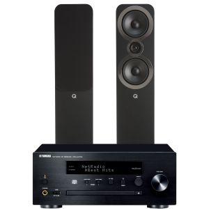 Yamaha CRX-N470D with Q Acoustics 3050i Floorstanding Speakers