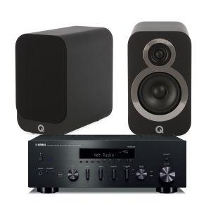 Yamaha R-N602 Amplifier with Q Acoustics 3010i Bookshelf Speakers