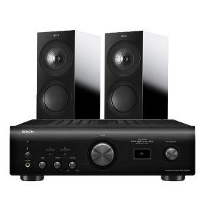 Denon PMA-1600NE Integrated Amplifier with KEF R3 Bookshelf Speakers