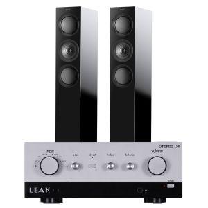LEAK Stereo 130 Integrated Amplifier with KEF R5 Floorstanding Speakers