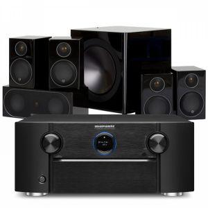 Marantz SR7015 9.2ch 8K AV Amplifier with Monitor Audio Radius R90HT1 AV Speaker System