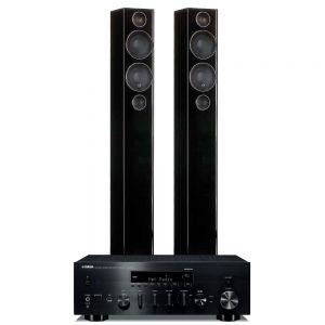 Yamaha R-N803D Amplifier with Monitor Audio Radius 270 Speakers
