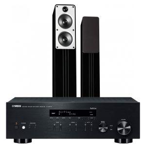 Yamaha R-N303D Hi-Fi Receiver with Q Acoustics Concept 40 Floorstanding Speakers
