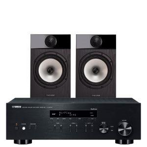Yamaha R-N303D Hi-Fi Receiver with Fyne Audio F301 Bookshelf Speakers