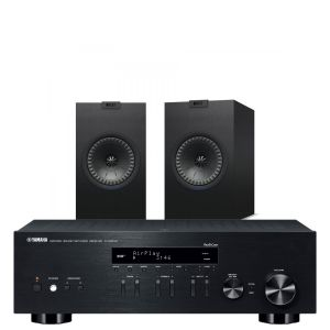 Yamaha R-N303D Hi-Fi Receiver with KEF Q150 Bookshelf Speakers