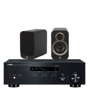 Yamaha R-N303D Hi-Fi Receiver with Q Acoustics Q3010i Bookshelf Speakers