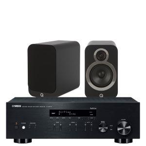 Yamaha R-N303D Hi-Fi Receiver with Q Acoustics 3020i Bookshelf Speakers