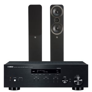 Yamaha R-N303D Hi-Fi Receiver with Q Acoustics 3050i Floorstanding Speakers