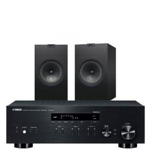 Yamaha R-N303D Hi-Fi Receiver with KEF Q350 Bookshelf Speakers