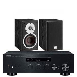 Yamaha R-N303D Hi-Fi Receiver with Dali Spektor 2 Bookshelf Speakers