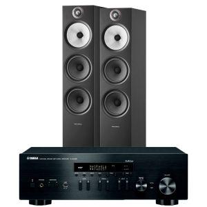 Yamaha R-N402D with Bowers & Wilkins 603 S2 Floorstanding Loudspeakers