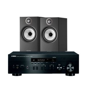 Yamaha R-N402D with Bowers & Wilkins 606 S2 Standmount Loudspeakers