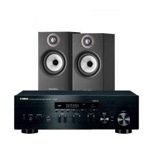 Yamaha R-N402D with Bowers & Wilkins 607 S2 Standmount Loudspeakers