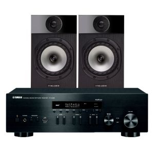 Yamaha R-N402D with Fyne Audio F300 Bookshelf Speakers