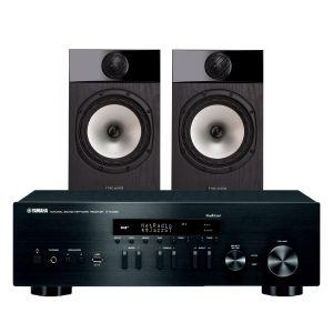 Yamaha R-N402D with Fyne Audio F301 Bookshelf Speakers