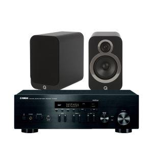 Yamaha R-N402D with Q Acoustics 3020i Bookshelf Speakers