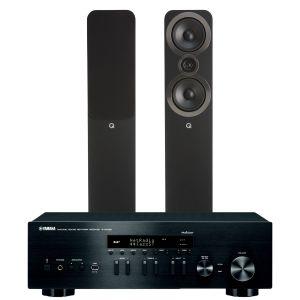 Yamaha R-N402D with Q Acoustics 3050i Floorstanding Speakers