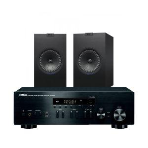 Yamaha R-N402D with KEF Q350 Bookshelf Speakers