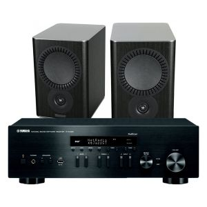 Yamaha R-N402D with Mission QX-2 Bookshelf Speakers