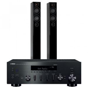 Yamaha R-N602 with Monitor Audio Radius 270 Speakers