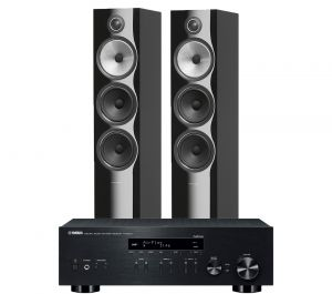 Yamaha R-N803D Amplifier with Bowers & Wilkins 703 S2 Floorstanding Speakers
