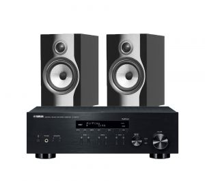 Yamaha R-N803D Amplifier with Bowers & Wilkins 706 S2 Standmount Speakers