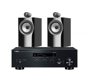 Yamaha R-N803D Amplifier with Bowers & Wilkins 705 S2 Standmount Speakers