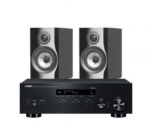 Yamaha R-N803D Amplifier with Bowers & Wilkins 707 S2 Standmount Speakers