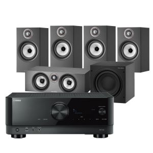 Yamaha RX-V4A AV Receiver with Bowers & Wilkins 607 S2 Anniversary Edition 5.1 Home Cinema Speaker Package (607 S2 Rears)