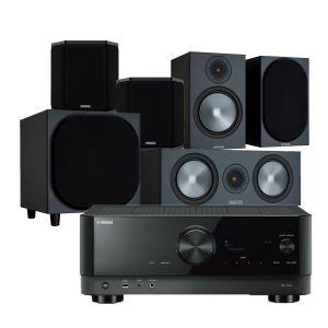 Yamaha RX-V4A AV Receiver with Monitor Audio Bronze 100 AV Speaker Pack