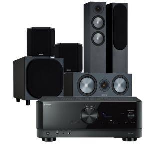 Yamaha RX-V4A AV Receiver with Monitor Audio Bronze 200 AV Speaker Pack