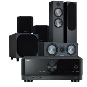 Yamaha RX-V4A AV Receiver with Monitor Audio Bronze 500 AV Speaker Pack