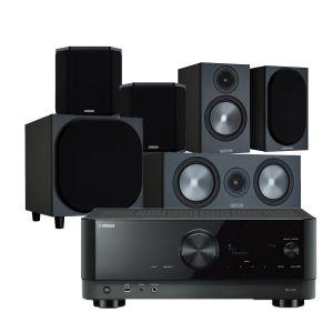 Yamaha RX-V4A AV Receiver with Monitor Audio Bronze 50 AV Speaker Pack