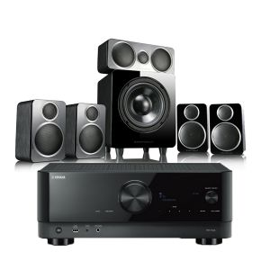 Yamaha RX-V4A AV Receiver with Wharfedale DX-2 5.1 Speaker Package