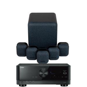 Yamaha RX-V4A AV Receiver with Monitor Audio Mass 5.1 Gen 2 AV Speaker System