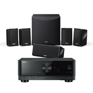 Yamaha RX-V4A AV Receiver with Yamaha NS-P41 5.1 Home Theatre Speaker Package