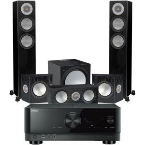 Yamaha RX-V4A AV Receiver with Monitor Audio Silver 200 AV12 5.1 Speaker Pack