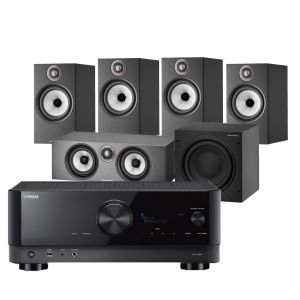 Yamaha RX-V6A AV Receiver with Bowers & Wilkins 606 S2 Anniversary Edition 5.1 Home Cinema Speaker Package (606 S2 Rears)