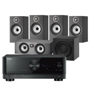 Yamaha RX-V6A AV Receiver with Bowers & Wilkins 607 S2 Anniversary Edition 5.1 Home Cinema Speaker Package (607 S2 Rears)