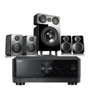 Yamaha RX-V6A AV Receiver with Wharfedale DX-2 5.1 Speaker Package