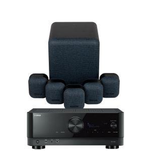 Yamaha RX-V6A AV Receiver with Monitor Audio Mass 5.1 Gen 2 AV Speaker System