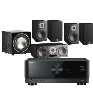 Yamaha RX-V6A AV Receiver with Dali Oberon 1 AV Speaker System with E-9 Subwoofer