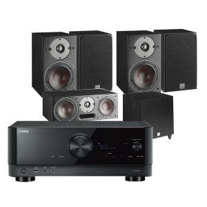Yamaha RX-V6A AV Receiver with Dali Oberon 3 AV Speaker System with C-8 D Sub