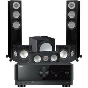 Yamaha RX-V6A AV Receiver with Monitor Audio Silver 200 AV12 5.1 Speaker Pack