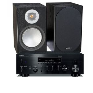 Yamaha R-N803D Amplifier with Monitor Audio Silver 50 Speakers