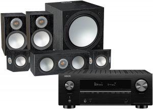 Denon AVC-X3700H Amplifier with Monitor Audio Silver 100 AV 5.1 Speaker Pack