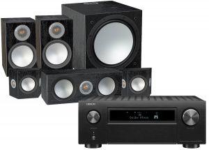 Denon AVC-X6700H 11.2 AV Amplifier with Monitor Audio Silver 100 AV 5.1 Speaker Pack